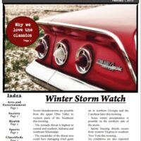 Local Newsletter with Index and Feature Story