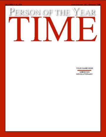 Mock TIME Person of the Year Cover Version One
