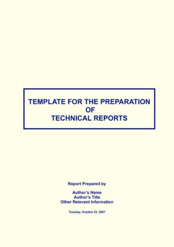 Modern Technical Report Cover Page