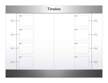 Monochromatic Timeline with Notes