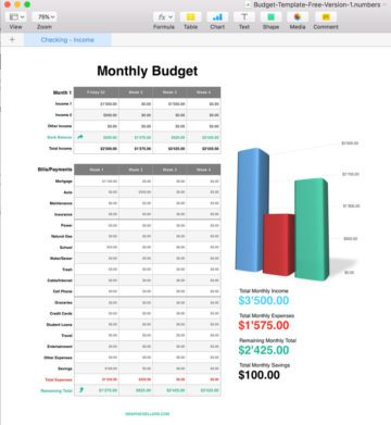 Free Apple Numbers Budget Template
