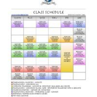 Monthly Schedule of Activities