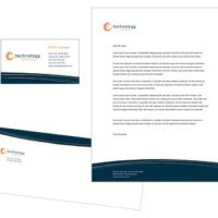 Navy Accent Business Card, Letterhead, and Envelope Set
