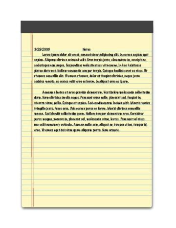 Notepad Background Notes