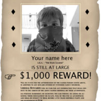 Old-Fashioned Wanted Poster with Photo