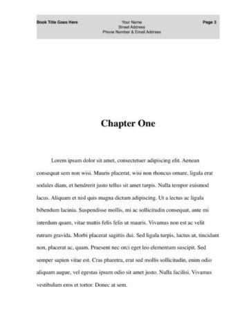 Publisher's Draft Chapter Book Chapter One