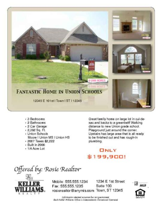 Real Estate Flyer with 4 Photos
