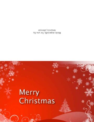 Set of 3 Folded Holiday Cards Red
