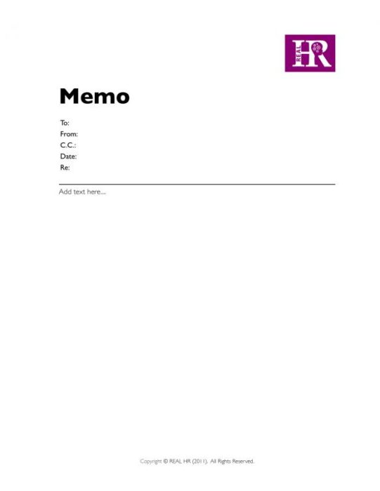 Single-Page Memo with Logo