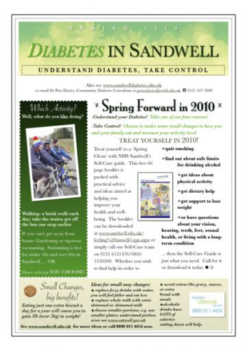 Single-Page Spring Theme Newsletter