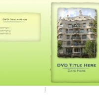 Slim DVD Sleeve Insert with Green Background