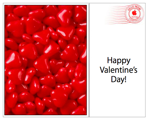 Small Valentine's Card with Postmark