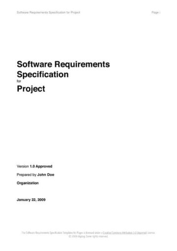Software Requirements Report Cover Page