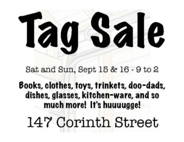 Tag Sale Postcard