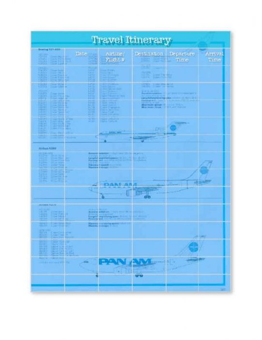 Travel Itinerary with Flight Tracking
