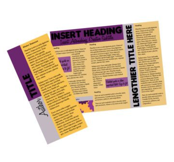 Tri-Color Trifold Brochure