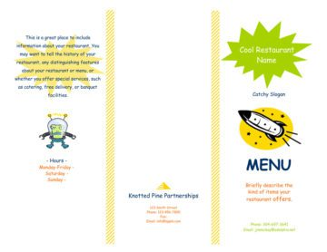 Tri-Fold Takeout Menu with Yellow and Green Accents Outside