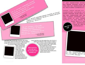 Trifold Pink and Black Brochure