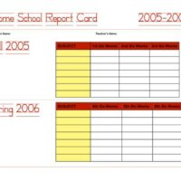 Two-Semester Homeschool Report Card