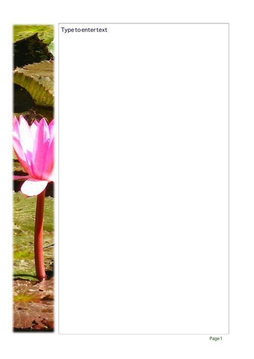 Water Lily Blank Stationery