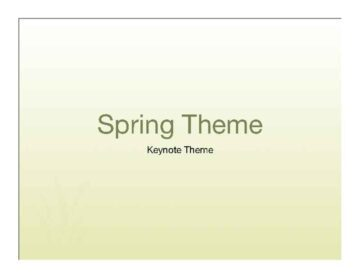 Yellow Spring Accents Keynote Theme